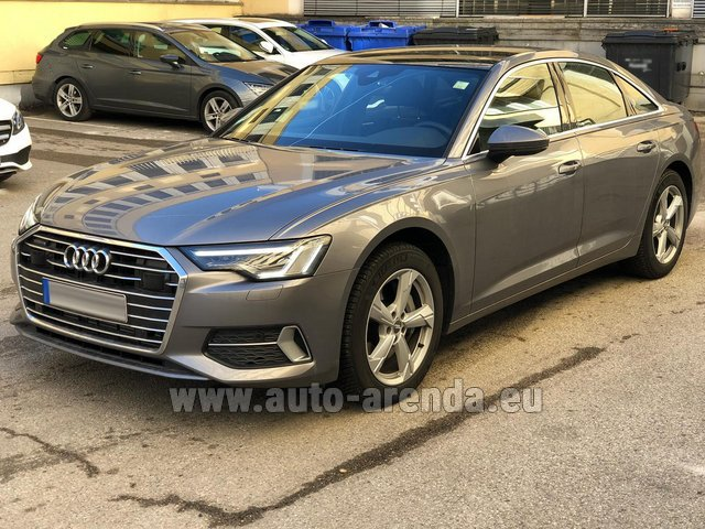 Hire and delivery to Chamonix the car Audi A6 45 TDI Quattro
