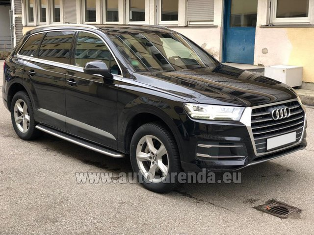 Rental Audi Q7 50 TDI Quattro 5-7 seats in French Riviera