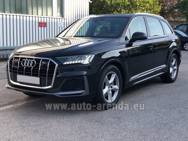 Прокат Ауди Q7 50 TDI Quattro Equipment S-Line (5 мест) в Антибах