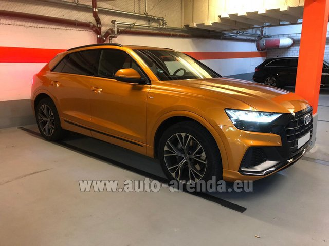 Rental Audi Q8 50 TDI Quattro in French Riviera