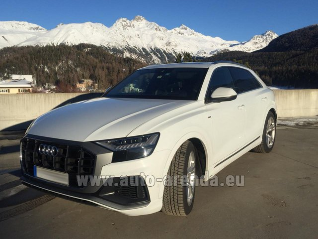 Hire and delivery to Les Deux Alpes the car Audi Q8 50 TDI Quattro