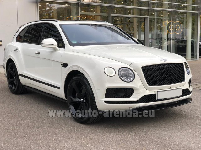 Hire and delivery to Val Thorens the car Bentley Bentayga 6.0 litre twin turbo TSI W12