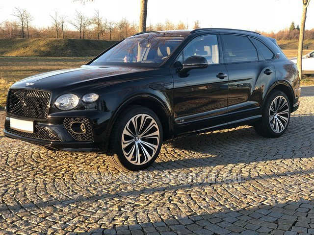 Hire and delivery to Marseille Provence airport the car Bentley Bentayga V8 new Model 2021