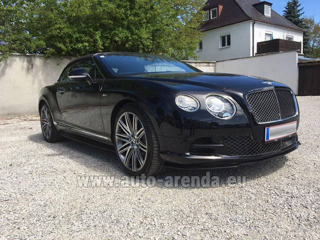 Hire and delivery to Saint-Martin-de-Belleville the car: Bentley Continental GTC V12-Speed