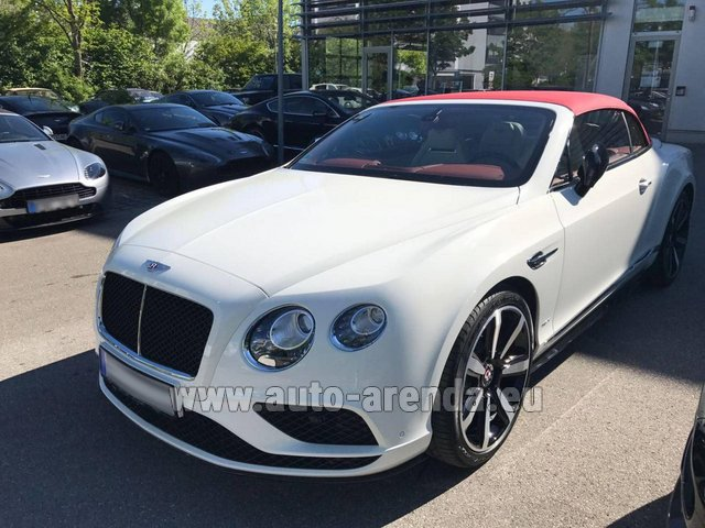 Rental Bentley Continental GTC V8 S in Grenoble