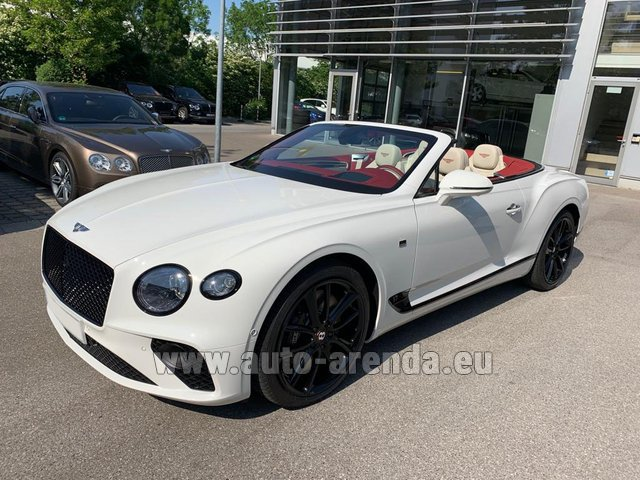 Hire and delivery to Val Thorens the car Bentley GTC W12 First Edition