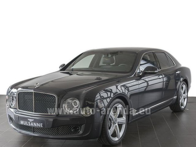 Hire and delivery to Val Thorens the car Bentley Mulsanne Speed V12