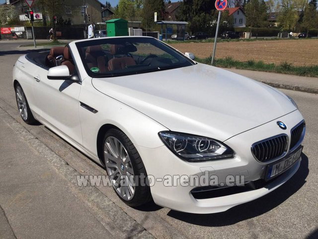 Hire and delivery to Saint-Martin-de-Belleville the car: BMW 640 Cabrio Equipment M-Sportpaket