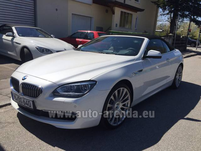 Hire and delivery to Courchevel the car BMW 640d Cabrio Equipment M-Sportpaket