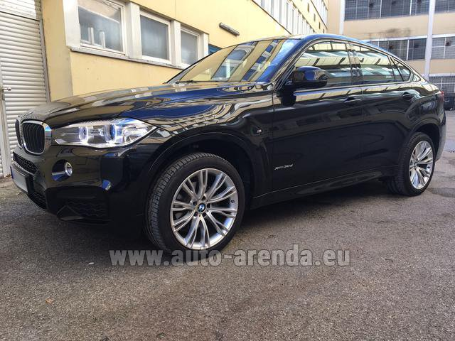 Прокат БМВ X6 3.0d xDrive High Executive M спорт пакет в Париже