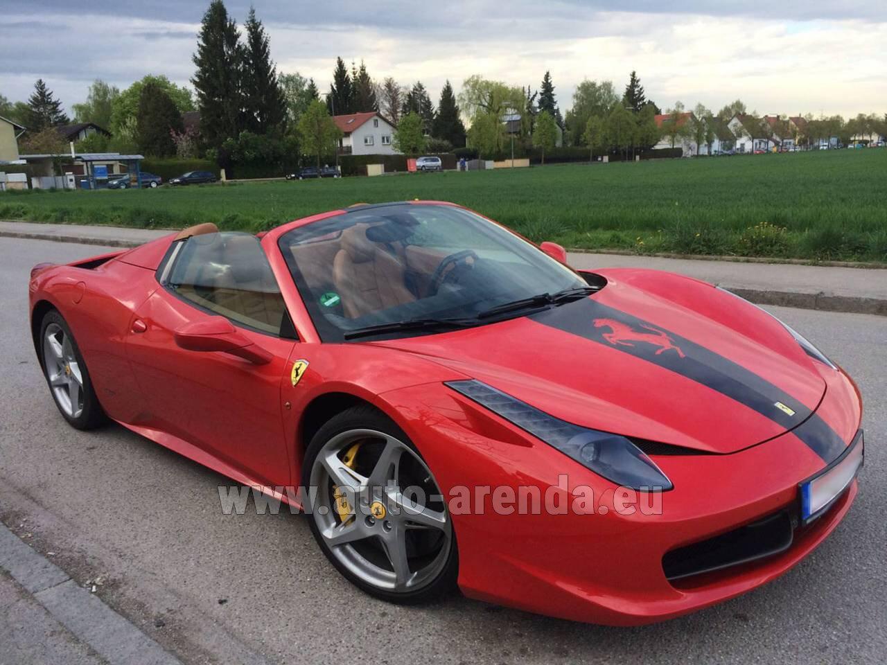 Rent The Ferrari 458 Italia Spider Cabrio Car In France