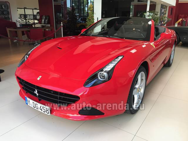 Hire and delivery to Saint-Martin-de-Belleville the car: Ferrari California T Convertible Red