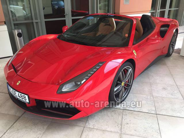 Rental Ferrari 488 GTB Spider Cabrio in Paris