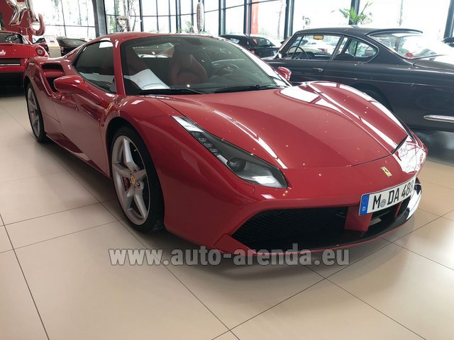Rental Ferrari 488 Spider in Paris