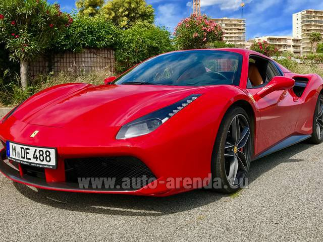 Hire and delivery to Saint-Martin-de-Belleville the car: Ferrari 488