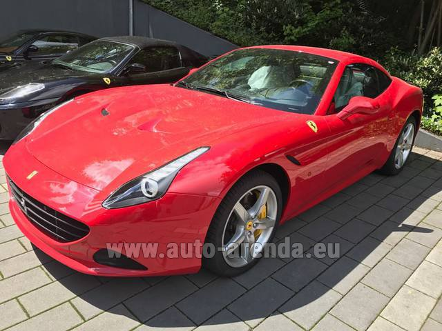 Rental Ferrari California T Cabrio Red in Saint-Tropez