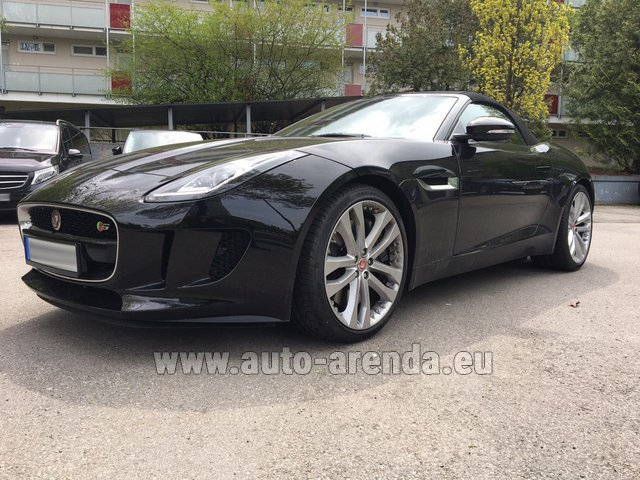Hire and delivery to Saint-Martin-de-Belleville the car: Jaguar F Type 3.0L
