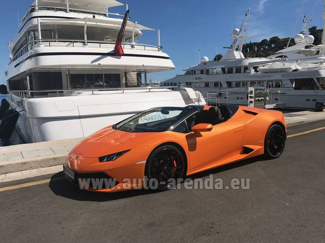 Hire and delivery to Courchevel the car: Lamborghini Huracan Spyder Cabrio