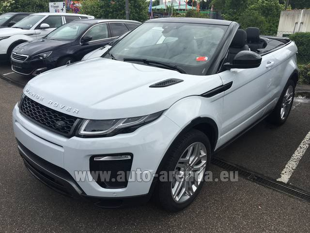 Hire and delivery to Saint-Martin-de-Belleville the car: Land Rover Range Rover Evoque HSE Cabrio SD4 Aut. Dynamic