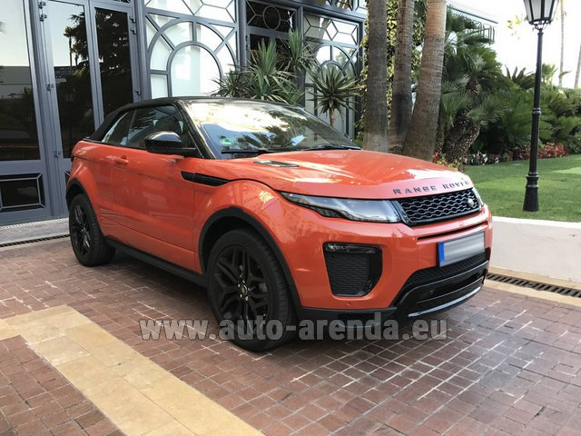 Rental Land Rover Range Rover Evoque HSE Cabrio SD4 in Saint-Tropez