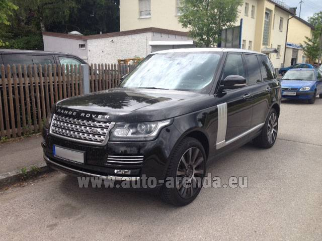 Rental Land Rover Range Rover SDV8 Autobiography in French Riviera