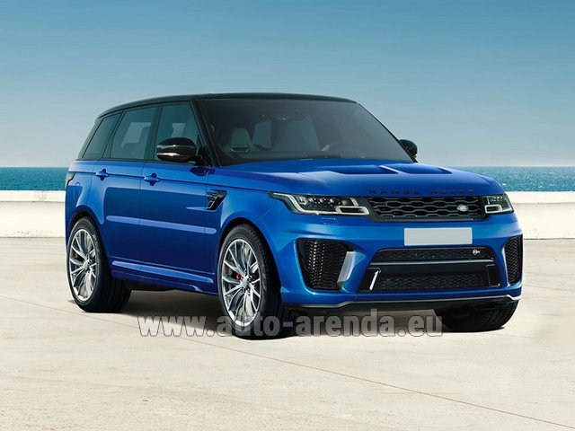 Rental Land Rover Range Rover Sport SVR V8 in French Riviera