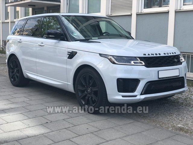 Hire and delivery to Courchevel the car Land Rover Range Rover Sport White