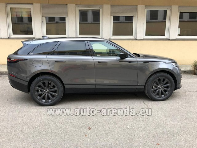 Hire and delivery to Les Deux Alpes the car Land Rover Range Rover Velar P250 SE