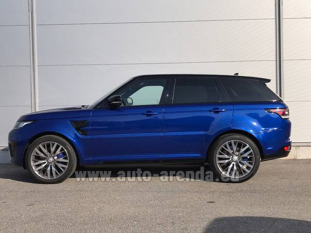 Rental Land Rover Range Sport SVR V8 in French Riviera