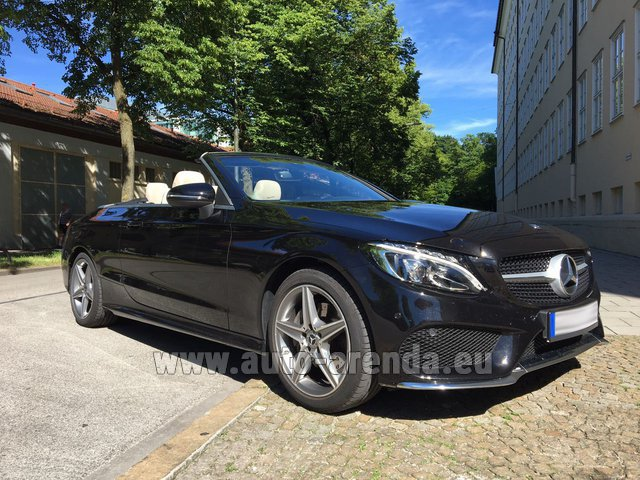 Hire and delivery to Saint-Martin-de-Belleville the car: Mercedes-Benz C-Class C 180 Cabrio AMG Equipment (Black)