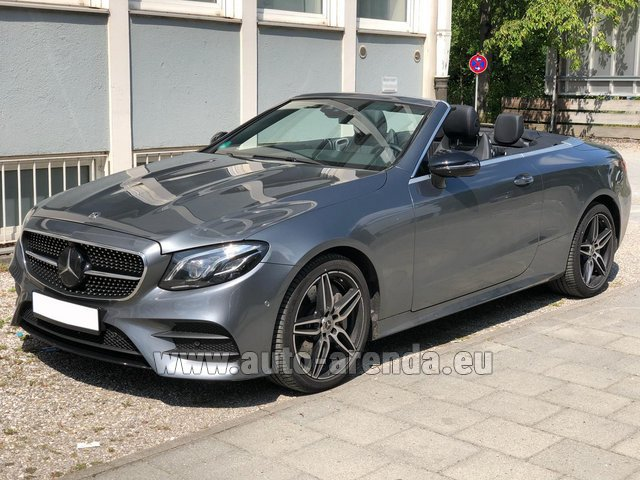 Rental Mercedes-Benz E 450 Cabriolet AMG equipment in Moutiers