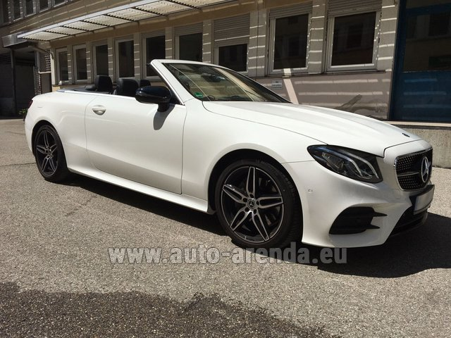 Hire and delivery to Saint-Martin-de-Belleville the car: Mercedes-Benz E-Class E 200 Cabrio
