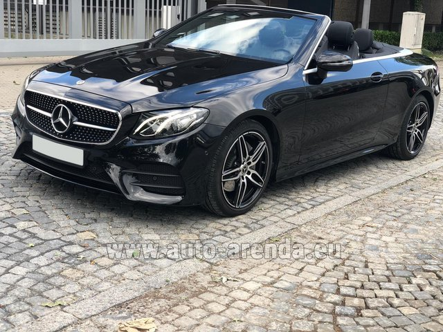 Rental Mercedes-Benz E-Class E220d Cabriolet AMG equipment in Saint-Jean-de-Maurienne
