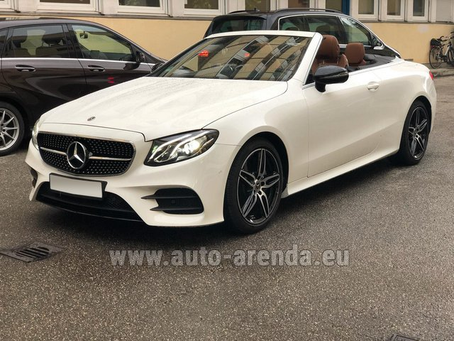 Rental Mercedes-Benz E-Class E300d Cabriolet diesel AMG equipment in Saint-Jean-de-Maurienne