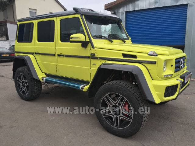 Rental Mercedes-Benz G 500 4x4 Yellow in Andorra