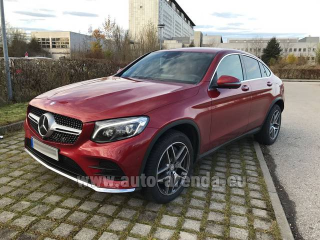 Hire and delivery to Val Thorens the car Mercedes-Benz GLC Coupe equipment AMG