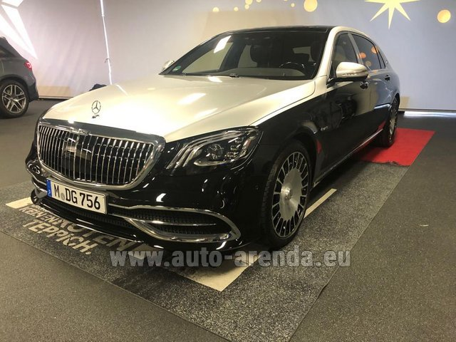 Rental Maybach S 560 4MATIC AMG equipment Metallic and Black in Lyon