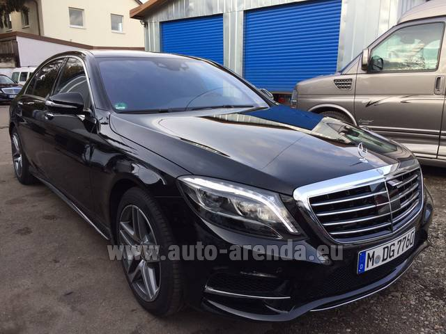 Hire and delivery to Chamonix the car Mercedes-Benz S 350 L BlueTEC AMG Black