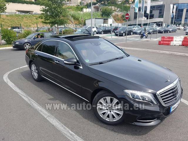 Hire and delivery to Chamonix the car Mercedes-Benz S 350 Long AMG