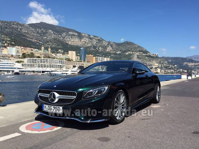 Rental Mercedes-Benz S 500 Coupe 4Matic 7G-TRONIC AMG in Paris