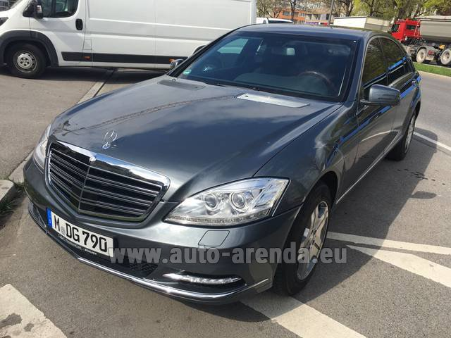 Rental Mercedes-Benz S 600 L B6 B7 Guard FACELIFT in Antibes