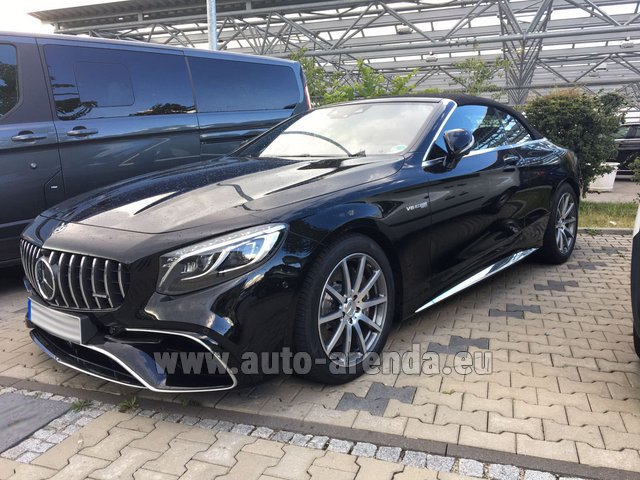 Rental Mercedes-Benz S 63 AMG Cabriolet V8 BITURBO 4MATIC+ in Paris
