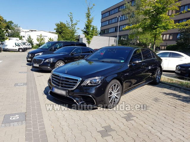 Hire and delivery to Val Thorens the car Mercedes-Benz S 63 AMG Long