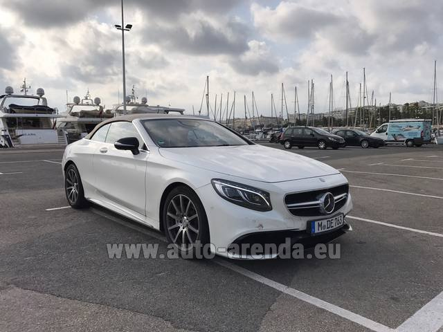 Rental Mercedes-Benz S 63 Cabrio AMG in Lyon