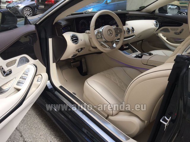 Rental Mercedes-Benz S-Class S 560 4MATIC Coupe in Antibes