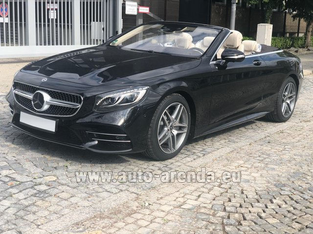 Rental Mercedes-Benz S-Class S 560 Cabriolet 4Matic AMG equipment in Saint-Jean-de-Maurienne