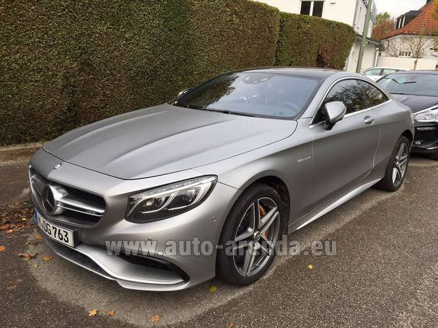 Rental Mercedes-Benz S-Class S63 AMG Coupe in Paris
