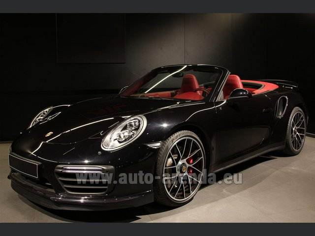 Rental Porsche 911 991 Turbo Cabrio LED Carbon Sitzbelüftung in Lyon