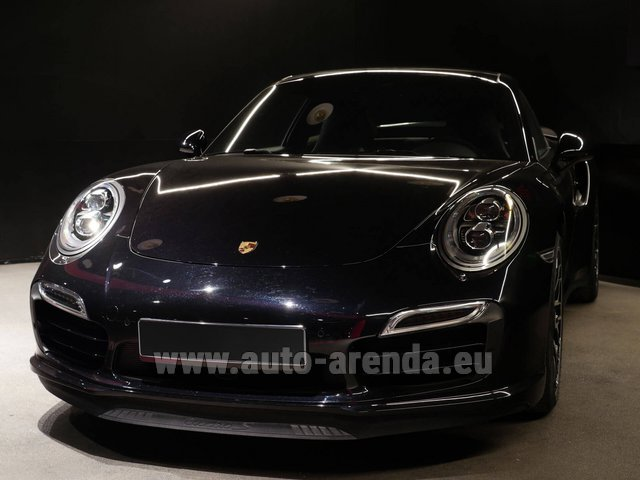Rental Porsche 911 991 Turbo S Ceramic LED Sport Chrono Package in France