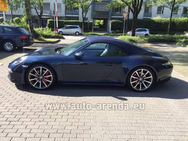 Hire and delivery to Saint-Martin-de-Belleville the car: Porsche 911 Carrera 4S Cabriolet